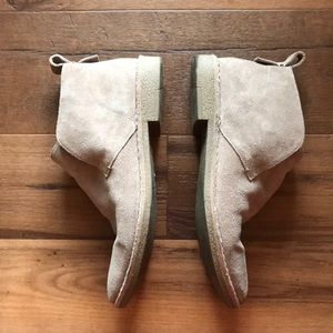 Dolce Vita tan suede ankle booties, size 9.5